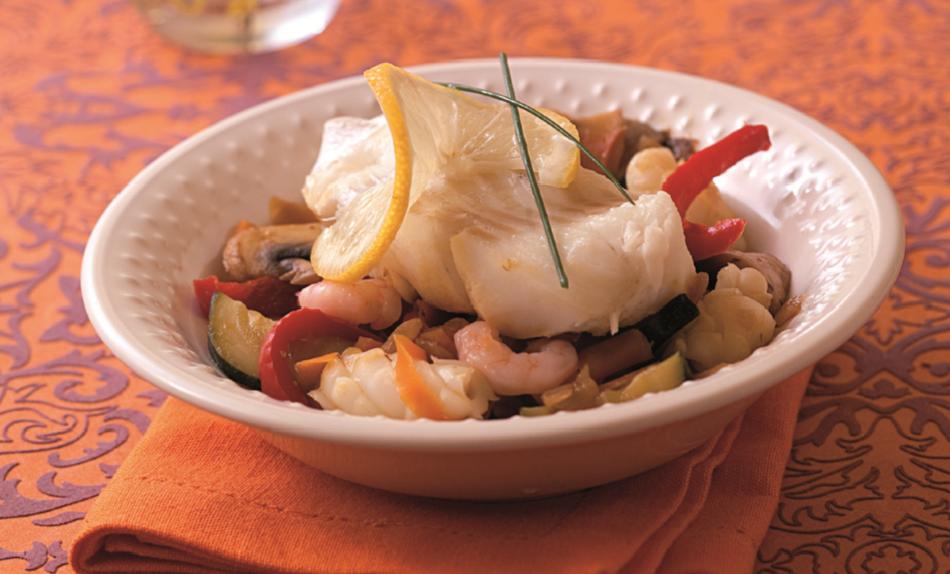 Mijoté de colin et fruits de mer (2 pers)