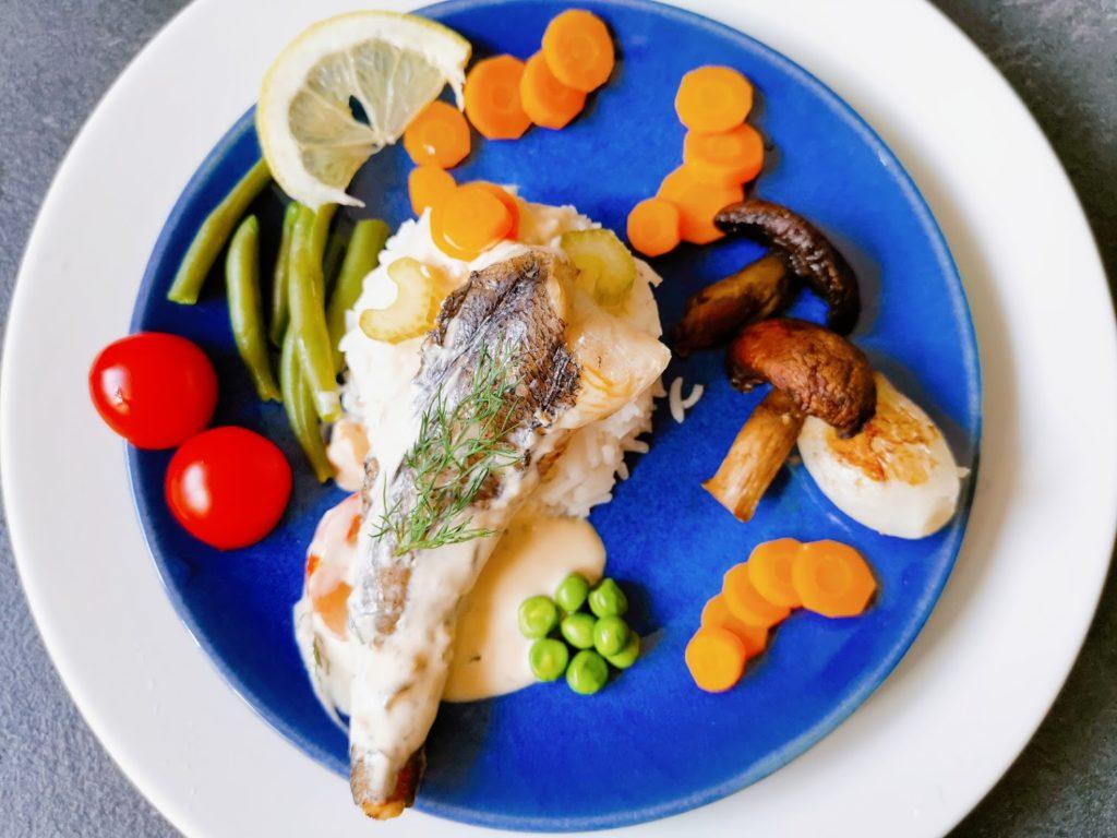 Merluchon et petits légumes