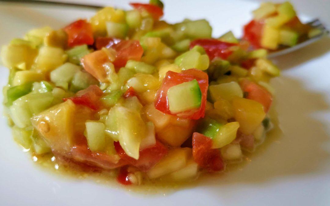 Tartare de concombre et mangue (4 pers)
