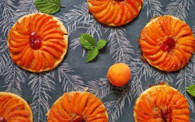 Tartelettes aux abricots et aux noisettes