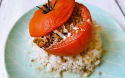 Tomates farcies à la viande hachée (8 pers)