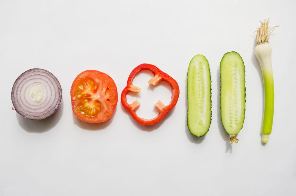 Légumes de gaspacho
