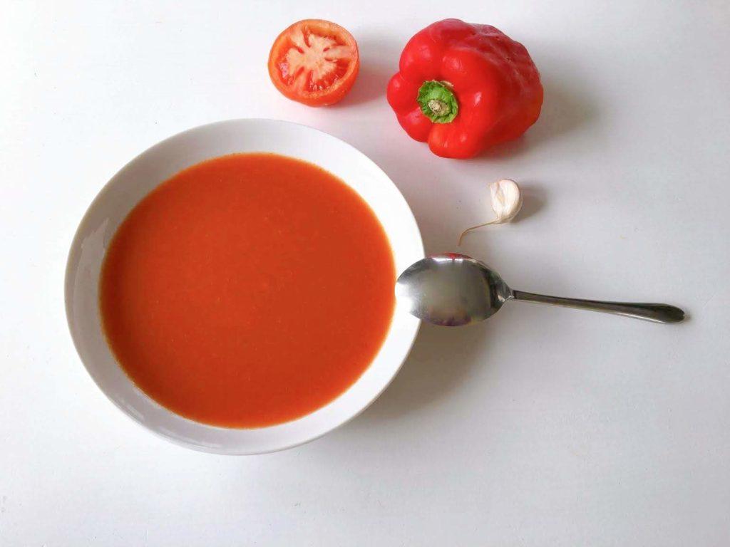 Assiette de gaspacho