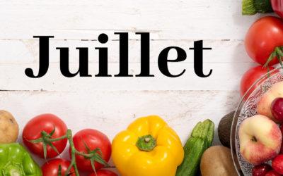 Juillet Fruits et légumes