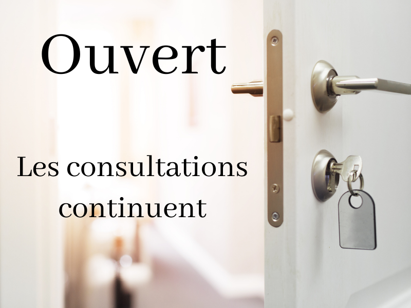 Coronavirus : Confinement et consultations